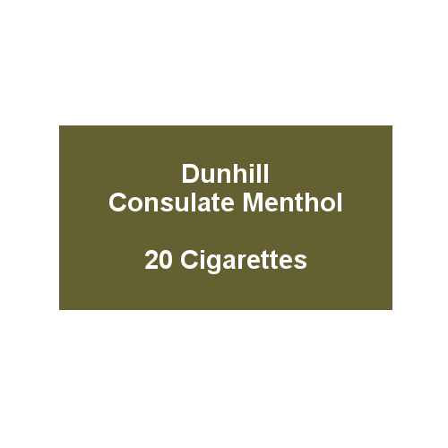 Dunhill Consulate Menthol King Size -  1 pack of 20 cigarettes (20)