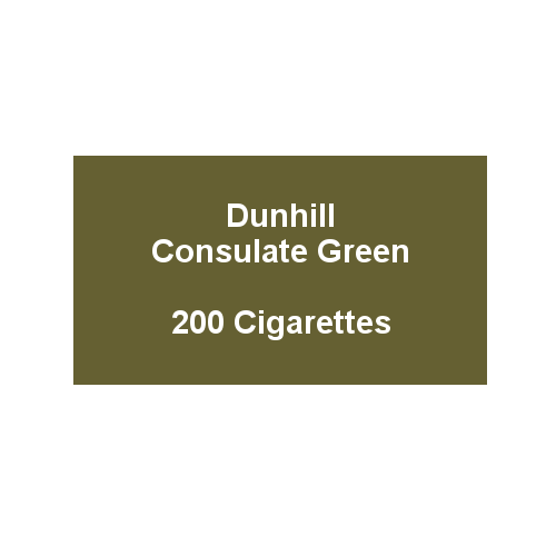 Dunhill Consulate Menthol King Size - 10 packs of 20 cigarettes (200)