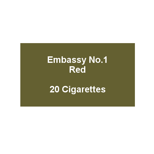 Embassy No. 1 Red - 1 pack of 20 cigarettes (20)
