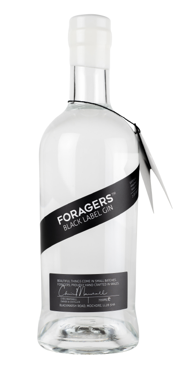 Foragers Black Label Gin - 46% 70cl