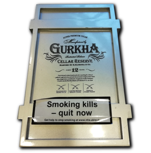 Empty Ghurka Celler Reserve 12 Year Old Double Robusto Cigar Box