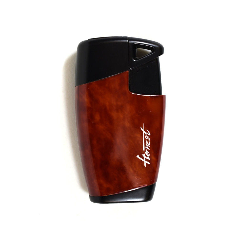 Honest Neptune Jet Flame Cigar Lighter - Burlwood (HON75)