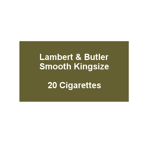 Lambert & Butler Smooth Kingsize - 1 Pack of 20 Cigarettes