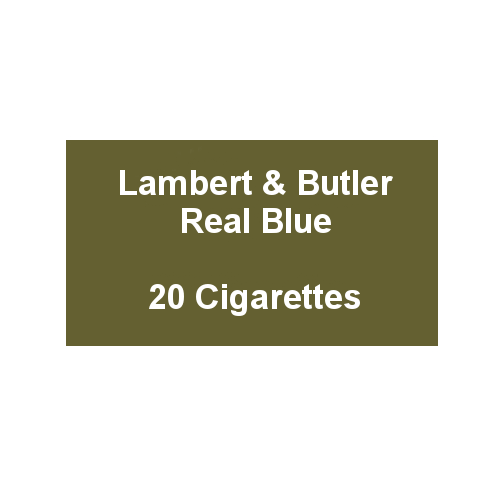 Lambert & Butler Real Blue - 1 Pack of 20 Cigarettes