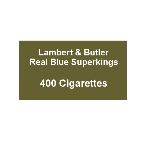 Lambert & Butler Real Blue Superkings - 20 Packs of 20 Cigarettes (400)