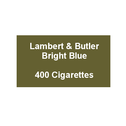 Lambert & Butler Bright Blue - 20 Packs of 20 Cigarettes