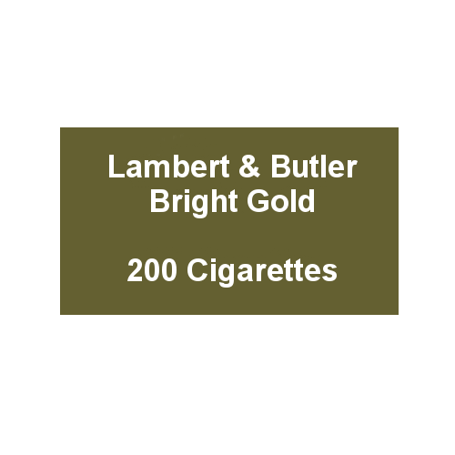 Lambert & Butler Bright Gold - 10 Pack of 20 Cigarettes