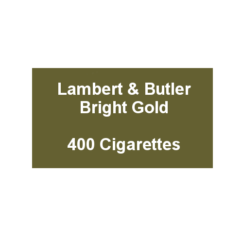 Lambert & Butler Bright Gold - 20 Packs of 20 Cigarettes