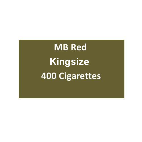 MB Red Kingsize Cigarettes - 20 packs of 20 cigarettes (400)