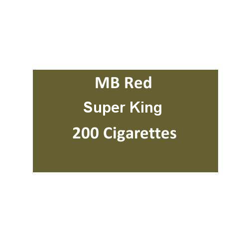 MB Red SuperKing Cigarettes - 10 packs of 20 cigarettes (200)
