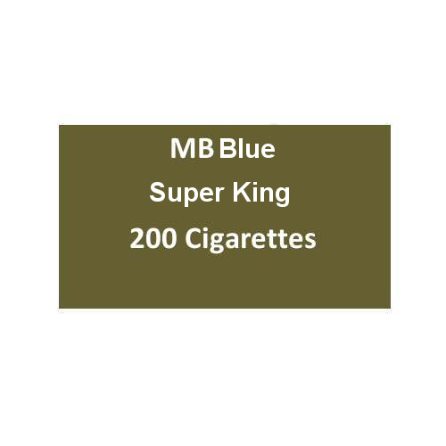 MB Blue Superking Cigarettes - 10 packs of 20 cigarettes (200)