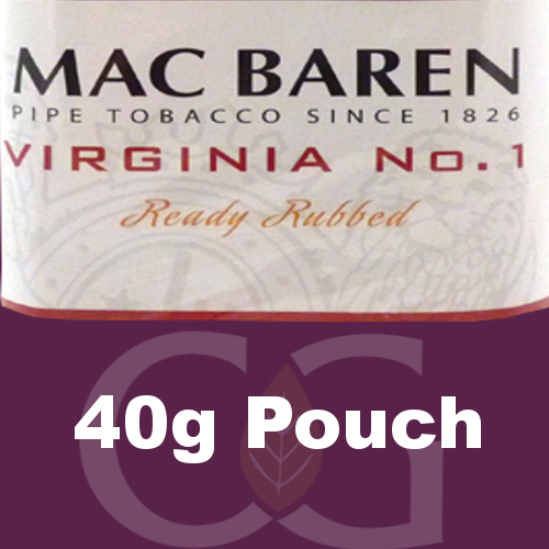 Mac Baren Virginia No.1 Ready Rubbed Pipe Tobacco 40g Pouch