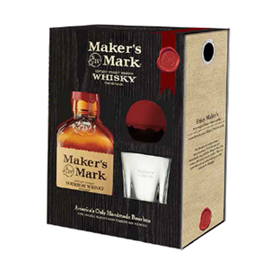 Makers Mark Glass and Ice Ball 1 x 70cl Whisky