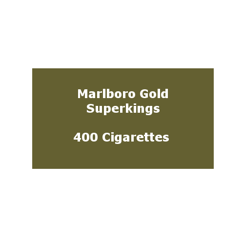 Marlboro Gold Superkings (100s) - 20 pack of 20 Cigarettes (400)