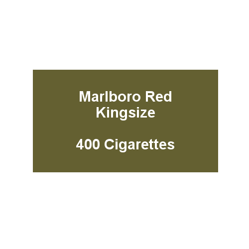 Marlboro Red Kingsize - 20 pack of 20 Cigarettes (400)