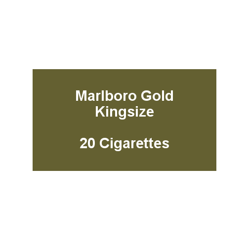 Marlboro Gold Kingsize - 1 pack of 20 Cigarettes (20)