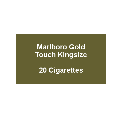 Marlboro Gold Touch Kingsize - 1 pack of 20 Cigarettes (20)