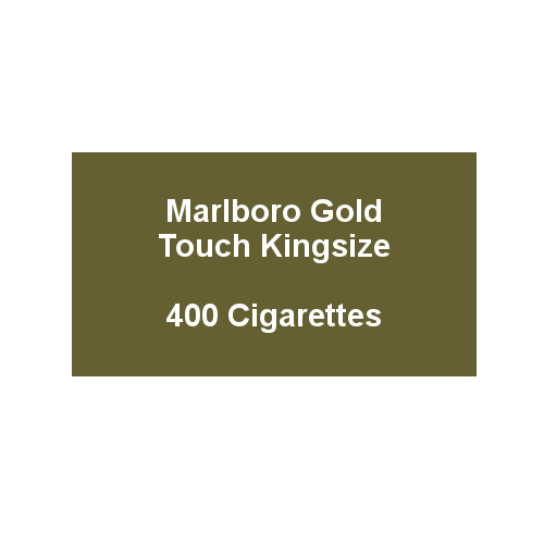 Marlboro Gold Touch Kingsize - 20 pack of 20 Cigarettes (400)