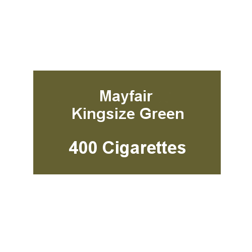 Mayfair Kingsize Green Cigarettes - 20 Packs of 20 cigarettes (400) - End of Line