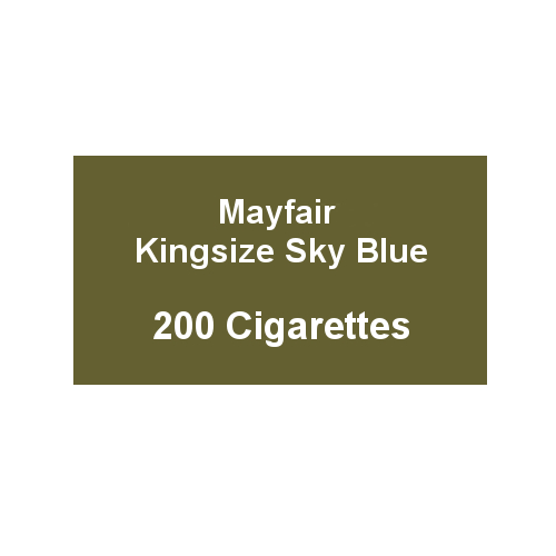 Mayfair Kingsize Sky Blue Cigarettes - 10 Packs of 20
