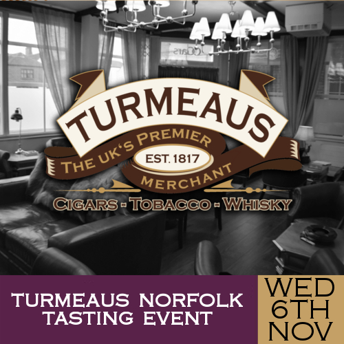 Turmeaus Norfolk Cigar and Spirit Tasting Event - 06/11/19