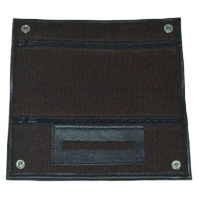Brown Canvas Wallet With Rubber Lining And Paper Holder