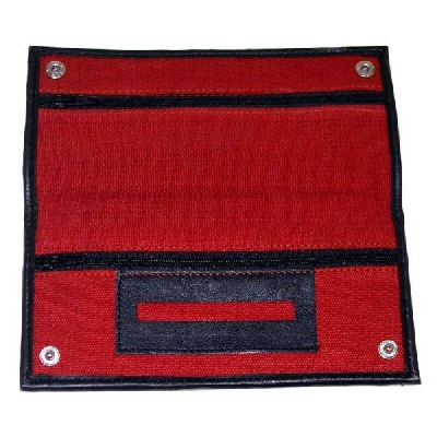Red Canvas Wallet With Rubber Lining And Paper Holder