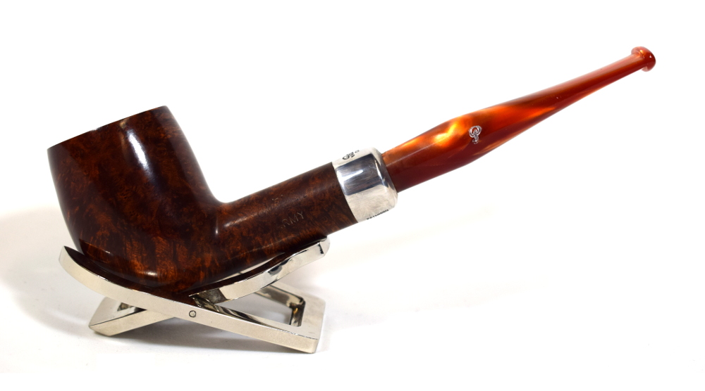 Peterson Orange Army 106 Silver Mounted Bent Fishtail Pipe (PE471)
