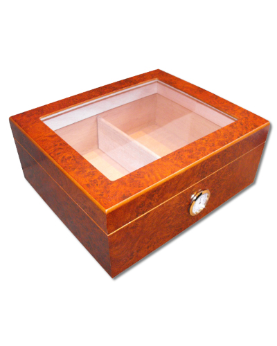 Eaton Glass Top Cigar Humidor