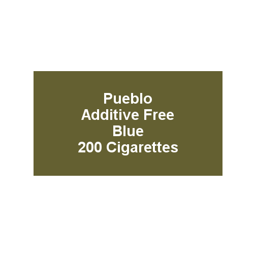Pueblo Additive free Cigarettes - Blue - 10 x Packs of 20 (200)
