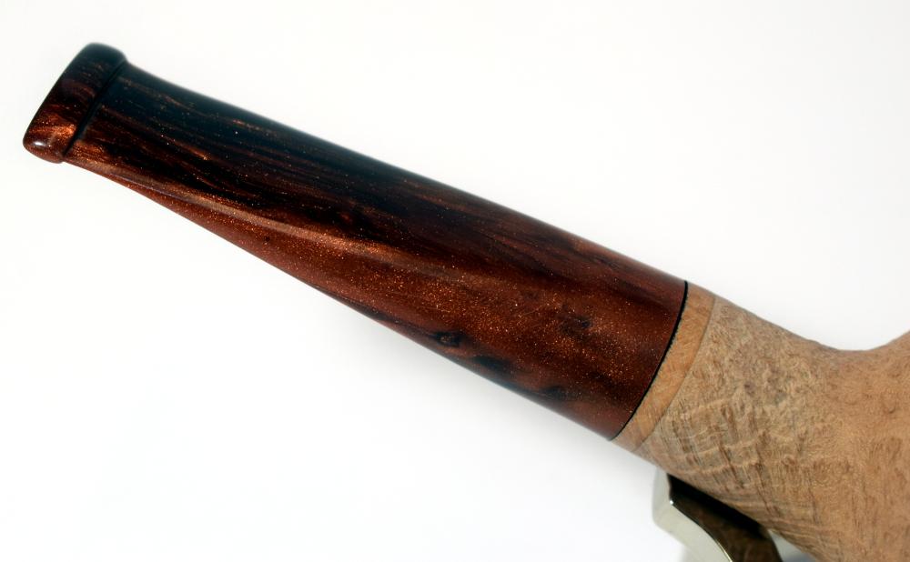 Rattrays Fudge 5 Sandblast Natural 9mm Filter Fishtail Pipe (RA412)