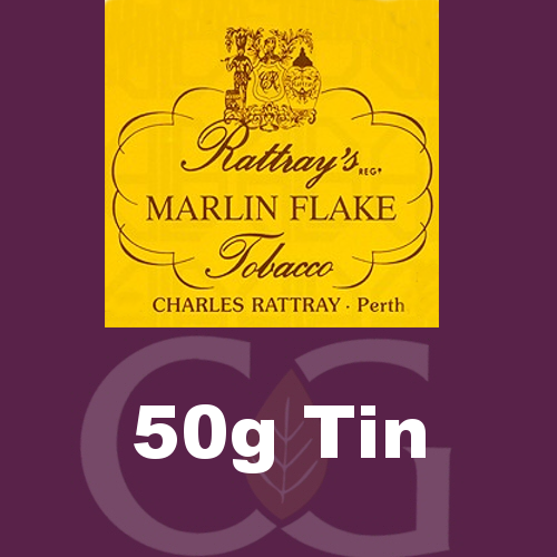 Rattrays Marlin Flake Pipe Tobacco 50g Tin