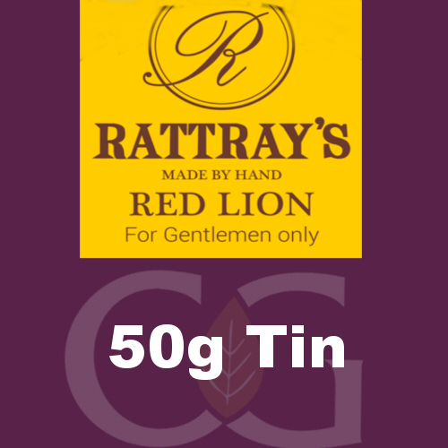 Rattrays Red Lion Pipe Tobacco 50g Tin