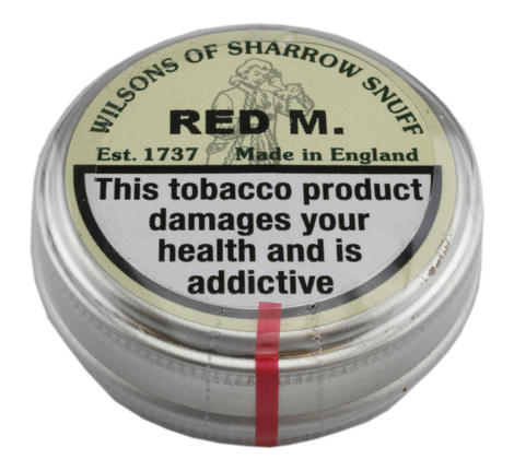 Wilsons of Sharrow - Red M Snuff - Large Tin - 20g