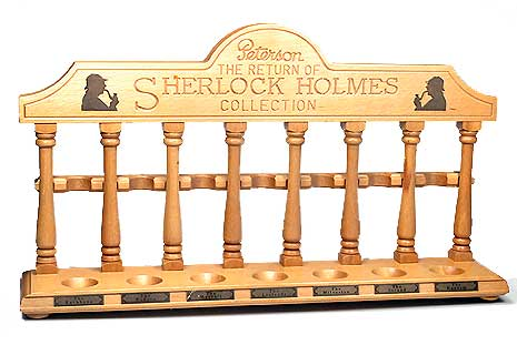 Peterson The Return of Sherlock Holmes Pipe Rack - 7 Pipe Rests