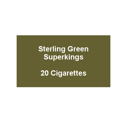Sterling Green Superkings - 1 Pack of 20 Cigarettes (20)