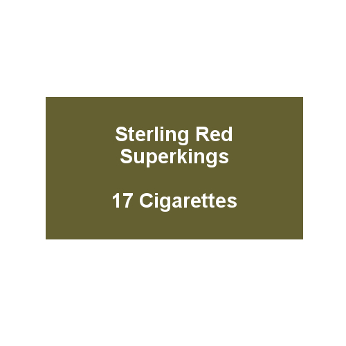 Sterling Red Superkings  - 1 Pack of 20 Cigarettes (20)