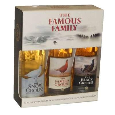 Famous Grouse Family Gift Set 3 x 5cl