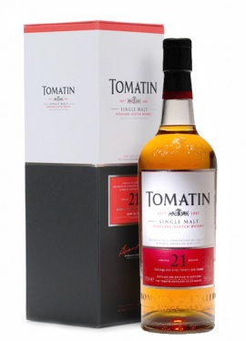 Tomatin 21 Year Old Single Malt Scotch Whisky - 70cl 52%