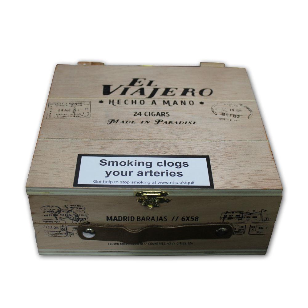 The Traveler Madrid Barajas Figurado Cigar Box Of 24 F Stop Mano