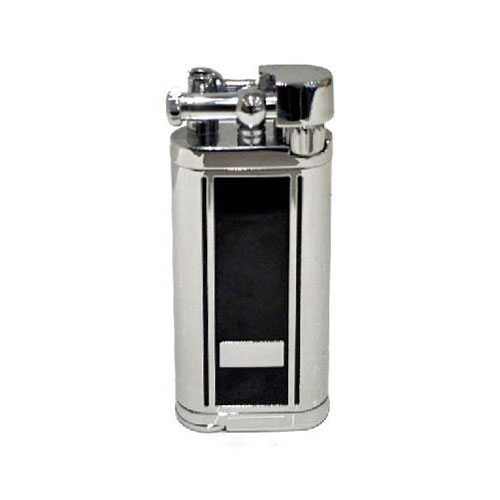 Tycoon Pipe Lighter with Pipe Tamper – Chrome and Black