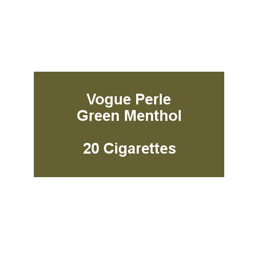 Vogue Perle Green Menthol - 1 Pack of 20 Cigarettes (20)