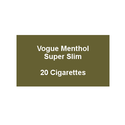 Vogue Green Menthol Superslims - 1 Pack of 20 cigarettes (20)