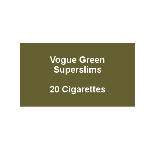 Vogue Green Superslims - 1 Pack of 20 cigarettes (20)
