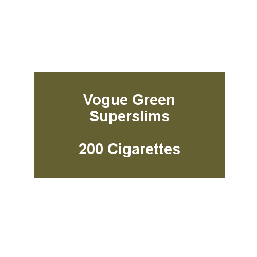 Vogue Essence Green Superslims (Formally Original Green) - 10 Packs of 20 cigarettes (200) - End of Line