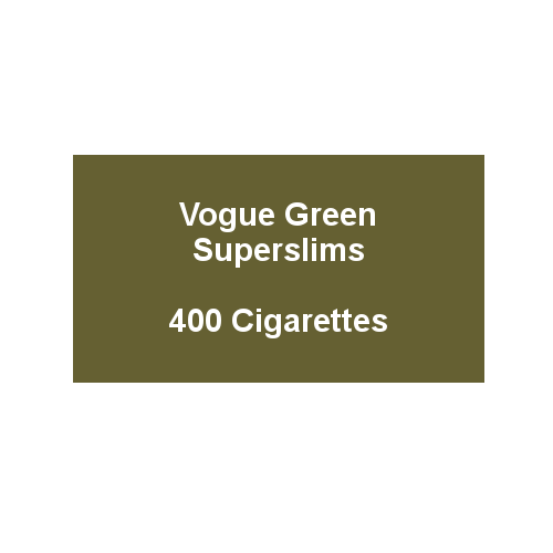 Vogue Essence Green Superslims (Formally Original Green) - 20 Packs of 20 cigarettes (400)