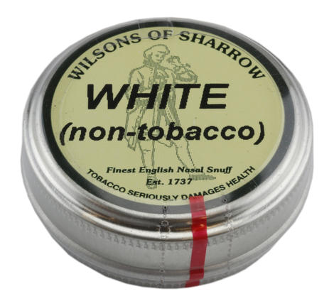 Wilsons of Sharrow - White Non-Tobacco Snuff - Large Tin - 20g