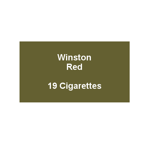Winston Red - 1 Pack of 20 Cigarettes (20)