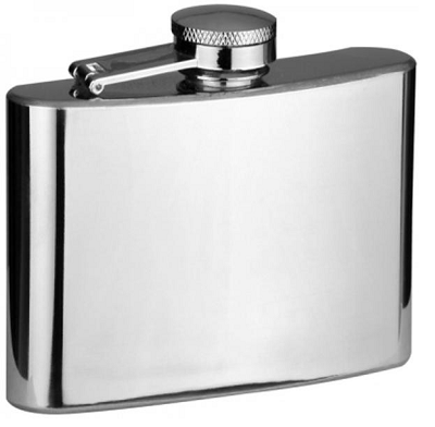4oz Plain Stainless Steel Hip Flask