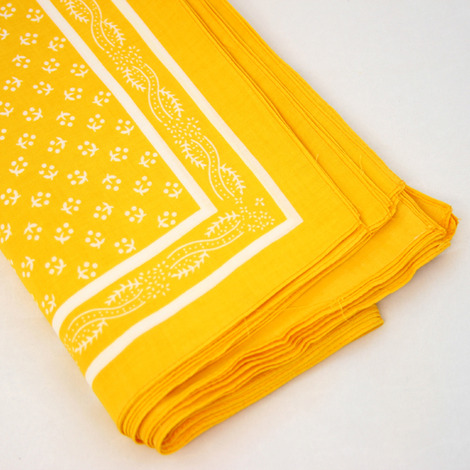 Wilsons of Sharrow Yellow Patterned Snuff Handkerchief